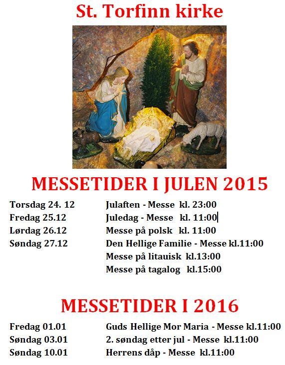 Messetider julen 2015